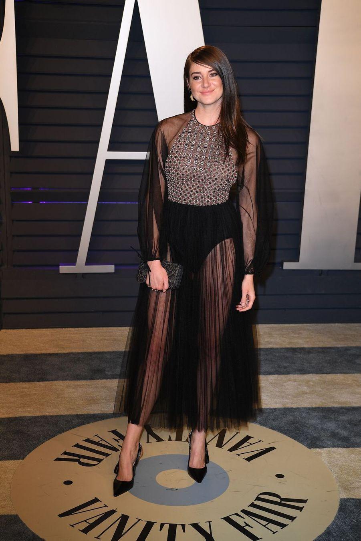 Shailene Woodleyà l'after-party des Oscars à Los Angeles le 24 février 2019