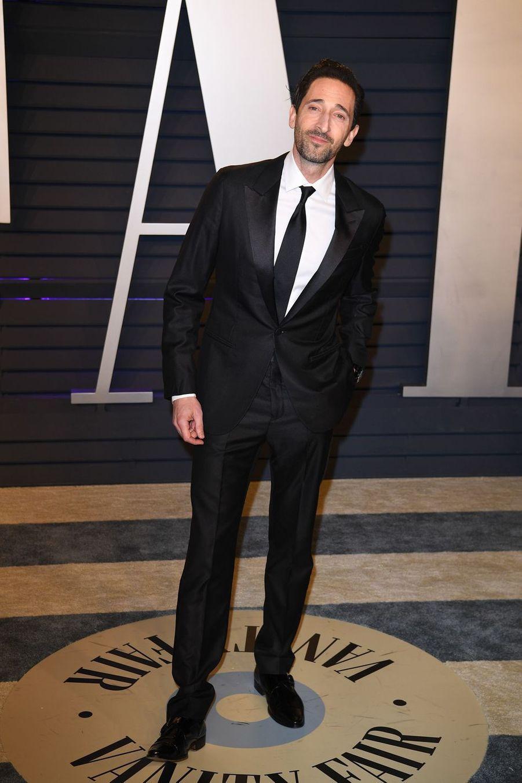 Adrien Brodyà l'after-party des Oscars à Los Angeles le 24 février 2019