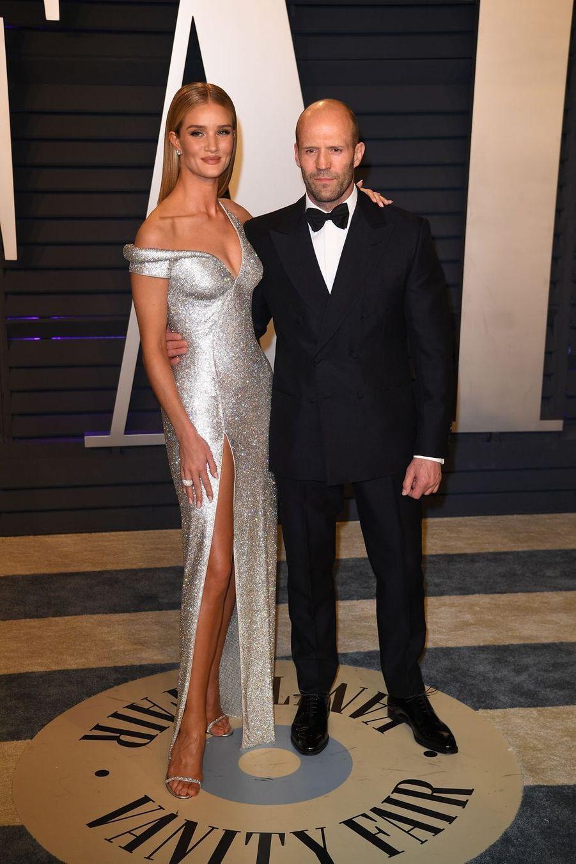 Rosie Huntington-Whiteley et Jason Stathamà l'after-party des Oscars à Los Angeles le 24 février 2019