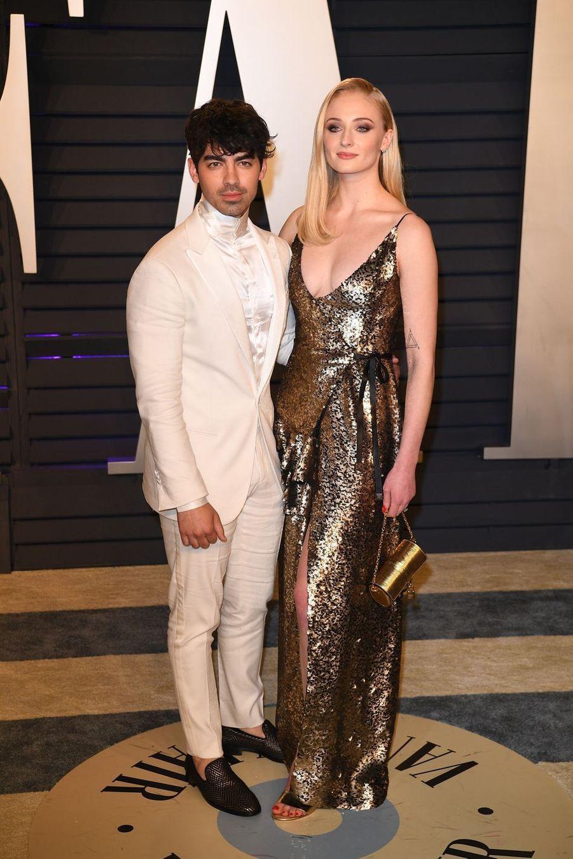 Joe Jonas et Sophie Turnerà l'after-party des Oscars à Los Angeles le 24 février 2019