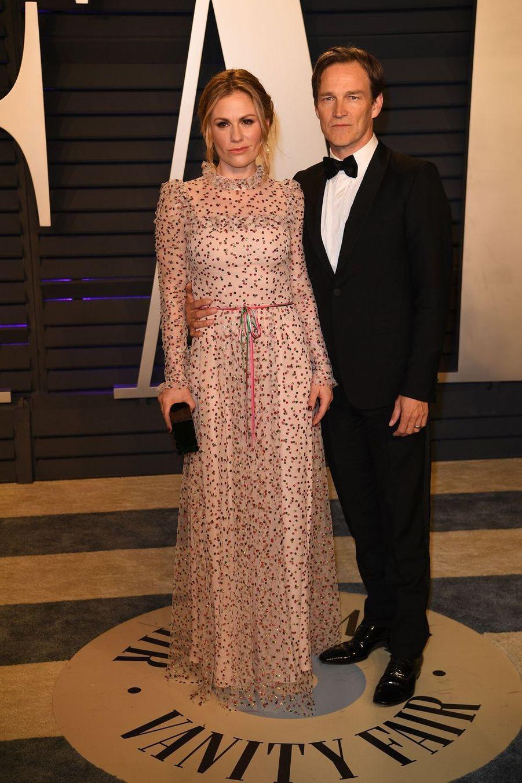 Anna Paquin et Stephen Moyerà l'after-party des Oscars à Los Angeles le 24 février 2019