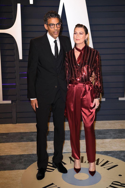 Chris Ivery et Ellen Pompeoà l'after-party des Oscars à Los Angeles le 24 février 2019