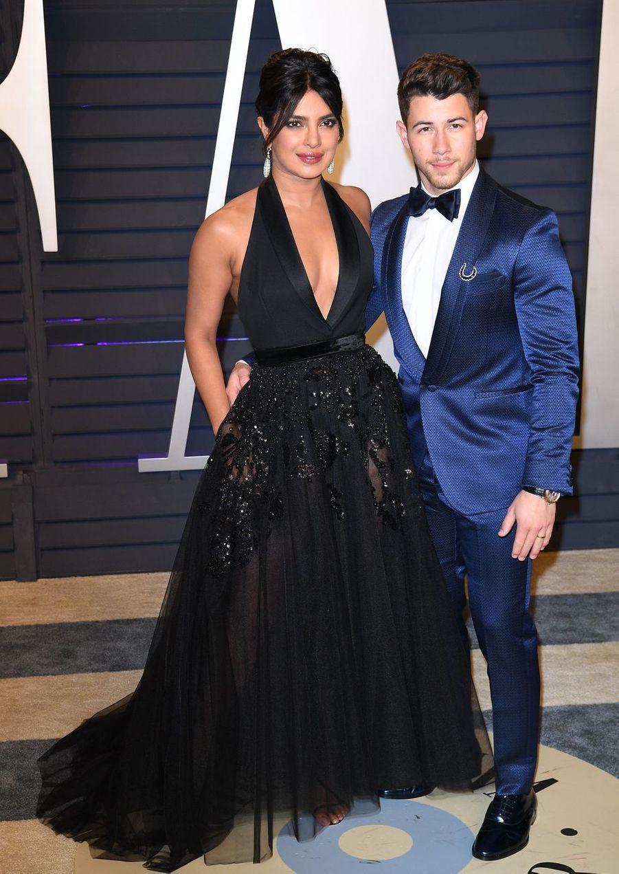 Priyanka Chopra et Nick Jonasà l'after-party des Oscars à Los Angeles le 24 février 2019