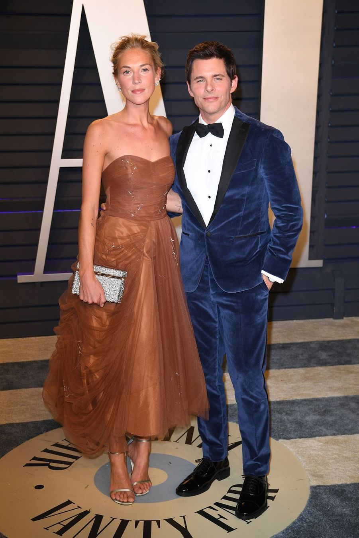 James Marsden et sa compagne Edei à l'after-party des Oscars à Los Angeles le 24 février 2019