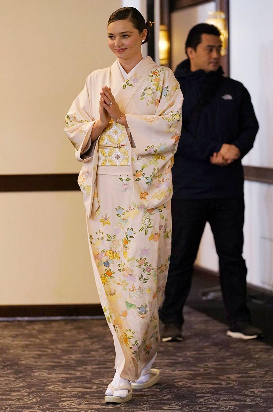 Miranda Kerr au Japon, janvier 2019