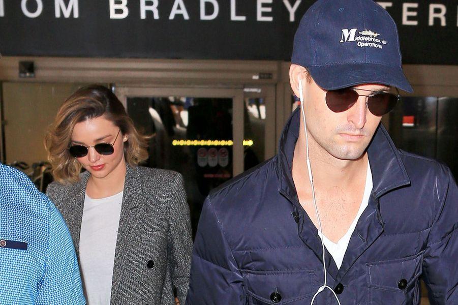 Miranda Kerr et Evan Spiegel, en Australie, en juillet 2016.