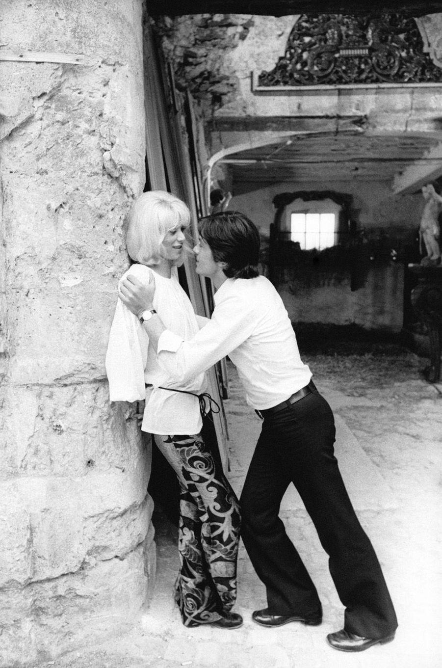 Mireille Darc et Alain Delon