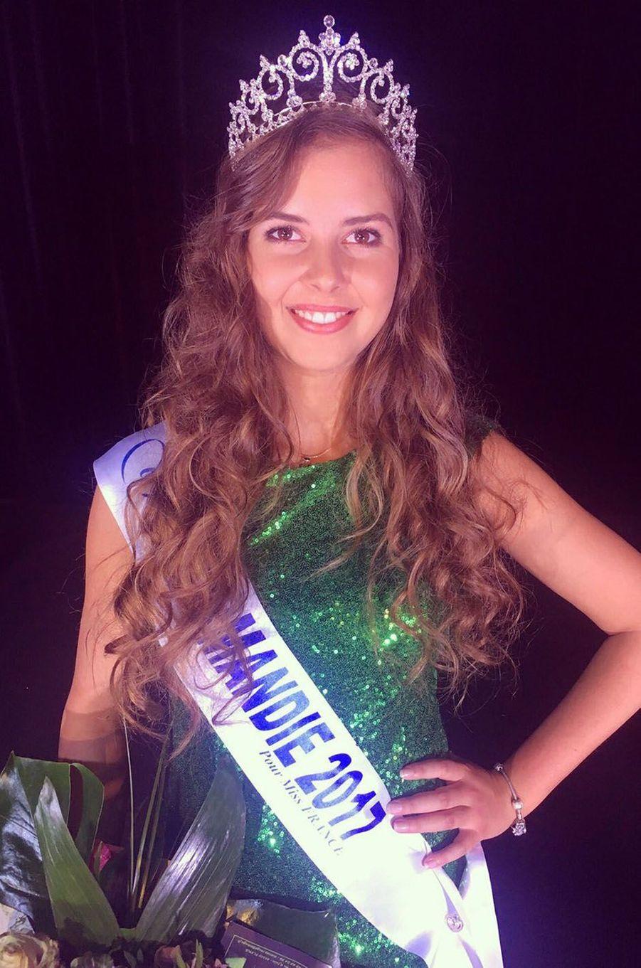 Alexane Dubourg, Miss Normandie 2017.