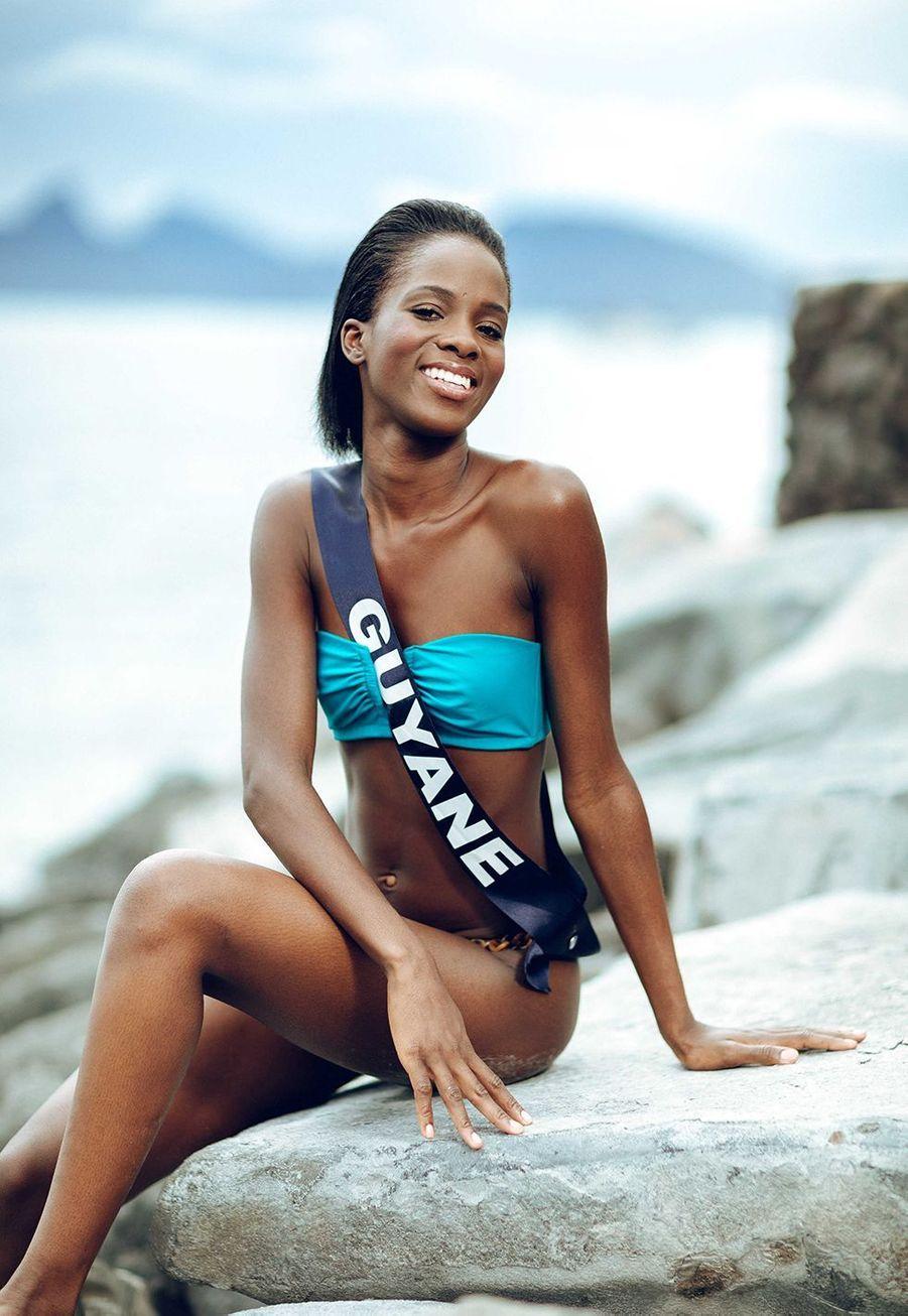 Miss Guyane, Dariana Abé, 21 ans, 1m73