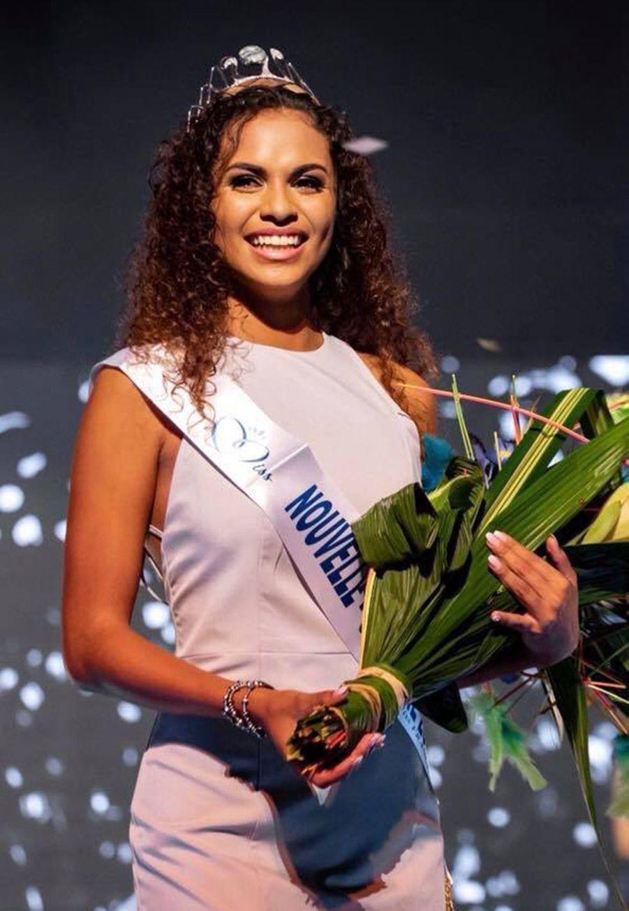 Anaïs Toven, Miss Nouvelle-Calédonie, 18 ans, 1m70, étudiante en licence de biologie, élue le 31 août 2019 à Païta