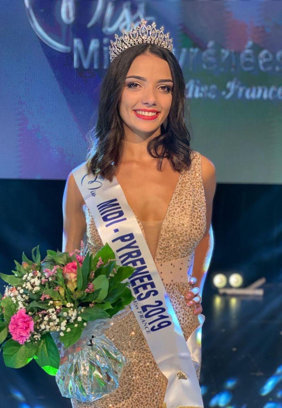 Andréa Magalhaes, Miss Midi-Pyrénées, 21 ans, 1m72, étudiante en licence de biologie, élue le 13 septembre 2019 à Mazamet