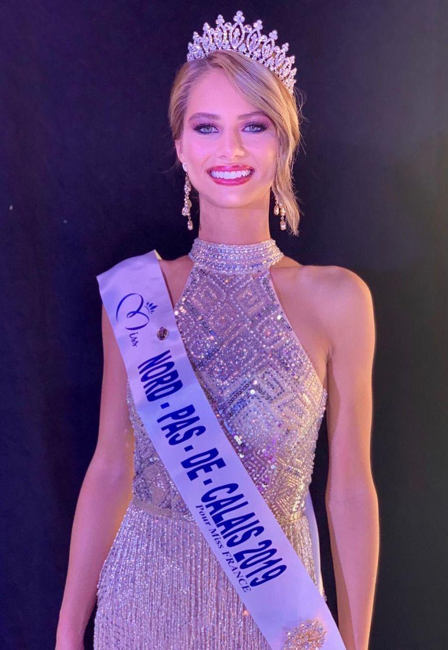 Florentine Somers, Miss Nord-Pas-de-Calais, 19 ans, 1m77, formation d'éducatrice spécialisée, élue le 12 octobre 2019 à Orchie