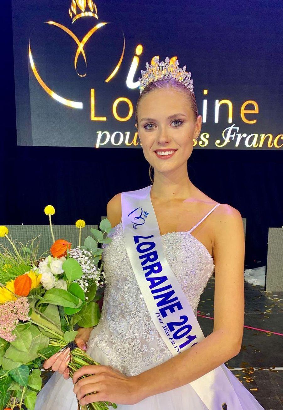 Ilona Robelin, Miss Lorraine, 18 ans, 1m78, étudiante en BTS immobilier, élue le 7 septembre 2019 à Amnéville