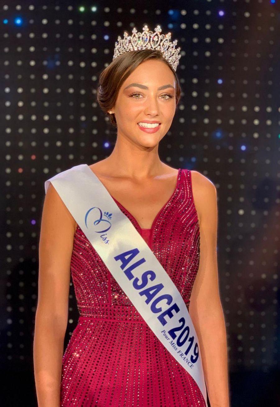 Laura Theodori, Miss Alsace, 23 ans, 1m71, assistante d'éducation,élue le 8 septembre 2019 à Monswiller
