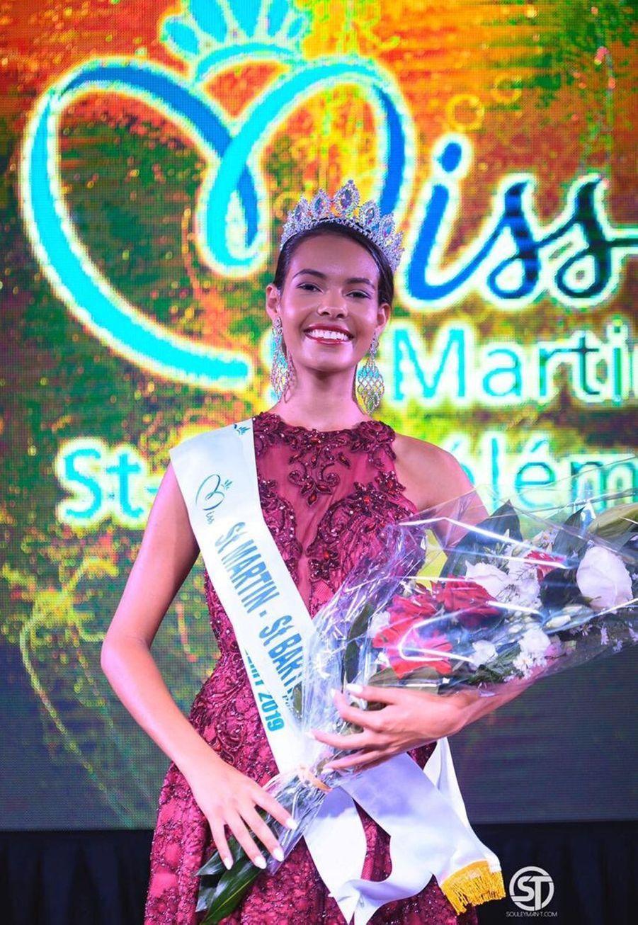 Layla Berry, Miss Saint-Martin et Saint-Barthélemy, 20 ans, 1m75,étudiante en licence de stratégie et économie d'entreprise, élue le 5 octobre 2019 à Saint-Martin