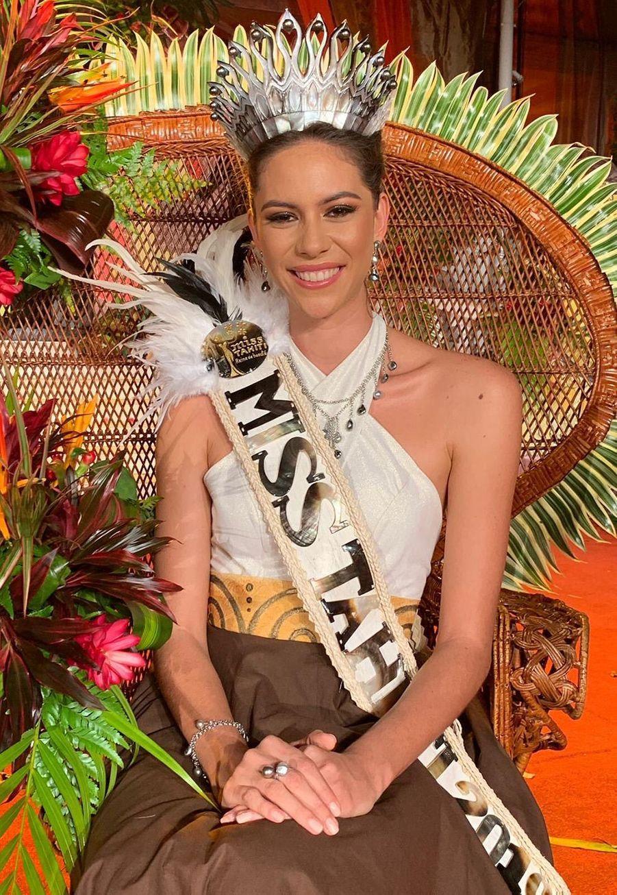 Matahari Bousquet, Miss Tahiti, 22 ans, 1m80, mannequin, élue le 21 juin 2019 à Papeete