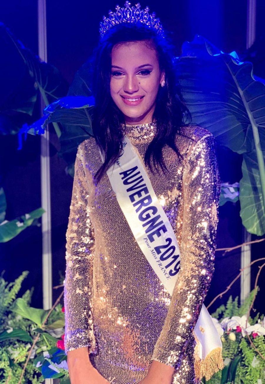 Meïssa Ameur, Miss Auvergne, 1m86, 21 ans, étudiante en licence de droit, élue le 18 octobre 2019 à Montluçon
