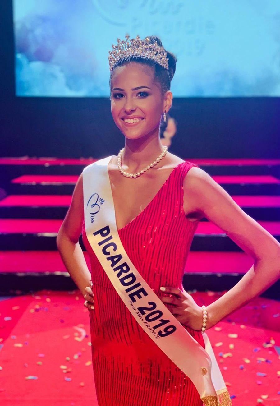 Morgane Fradon, Miss Picardie, 23 ans, 1m74, étudiante en langue étrangère appliquée, élue le 27 octobre 2019 à Beauvais