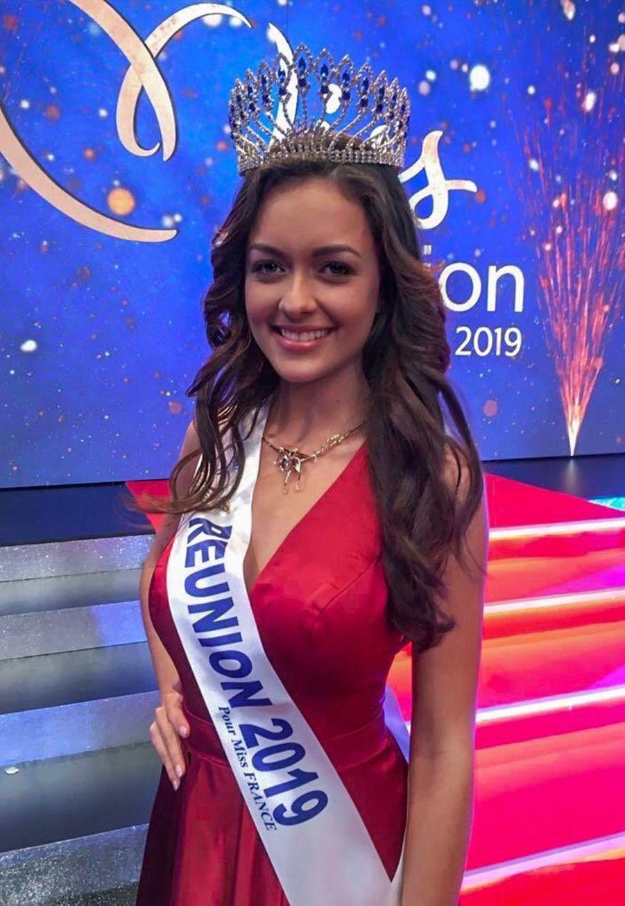 Morgane Lebon, Miss Réunion, 20 ans, 1m76, étudiante en troisième année d'administration économique et sociale, élue le 24 août 2019