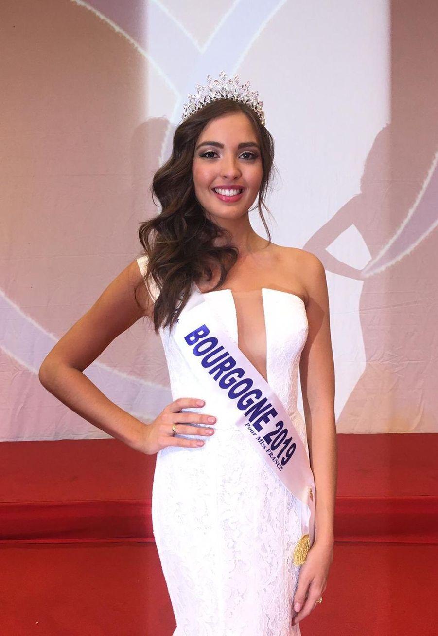 Sophie Diry, Miss Bourgogne, 21 ans, 1m76, étudiante en Master biologie,élue le 22 septembre 2019 à Autun