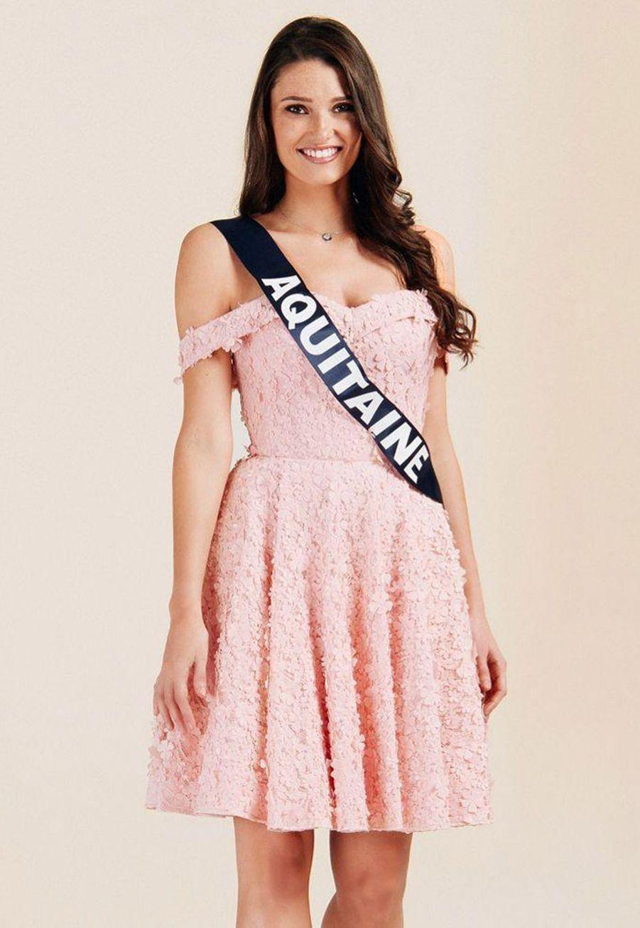 Justine Delmas, Miss Aquitaine, 21 ans, 1m76