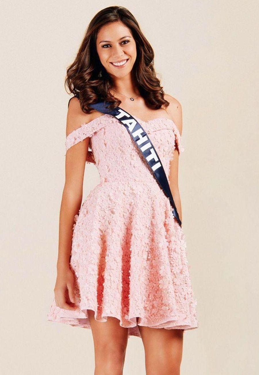 Matahari Bousquet, Miss Tahiti, 23 ans, 1m80