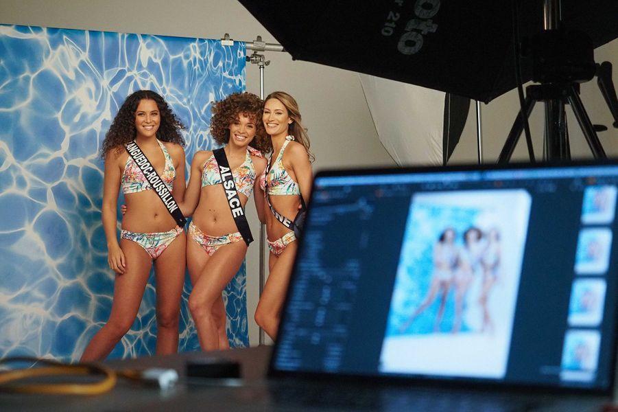 Miss Languedoc-Roussillon Illana Barry, Miss Alsace Aurélie Roux et Miss Bourgogne Lou-Anne Lorphelin