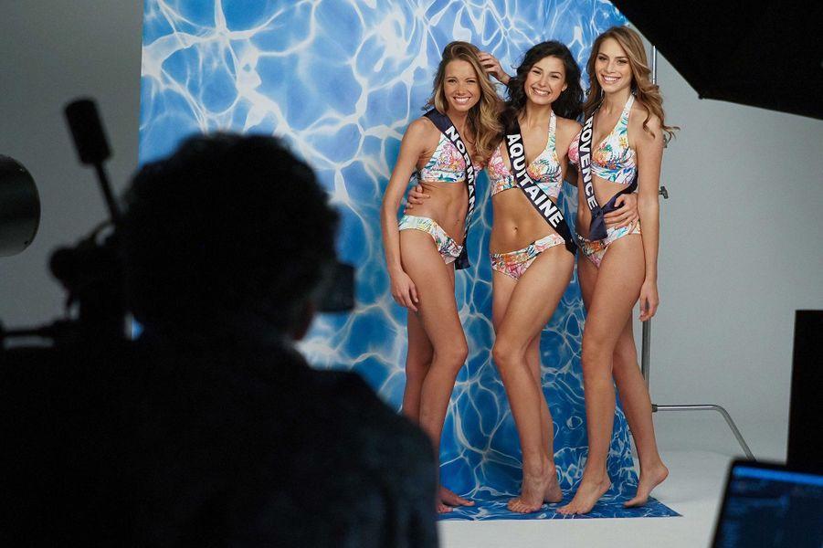 Miss Normandie Amandine Petit, Miss Lorraine Diane Febvay et Miss Provence April Benayoum
