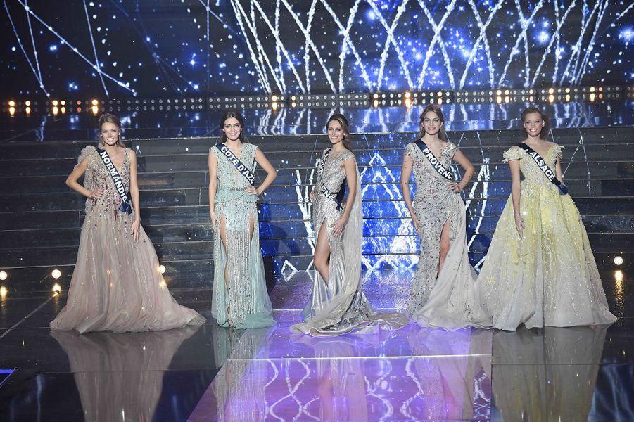 Les 5 finalistes au concours Miss France 2021