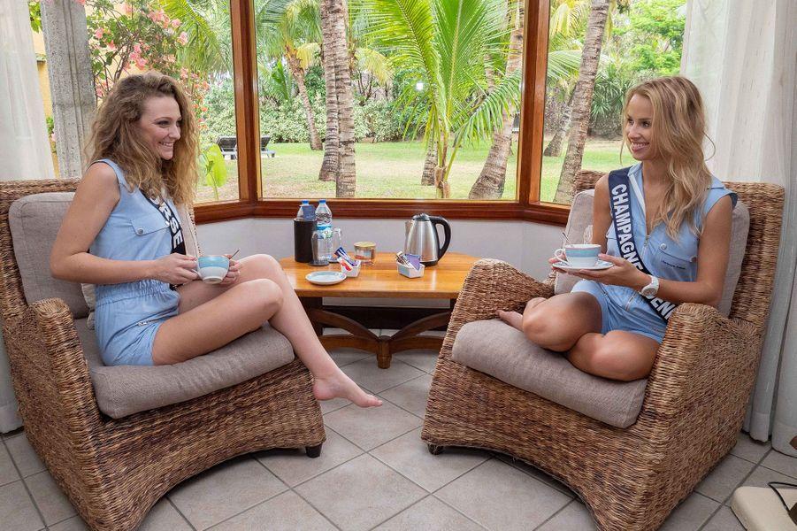 Miss Champagne-Ardenne, Pamela Texier et Miss Corse, Manon Jean-Mistral