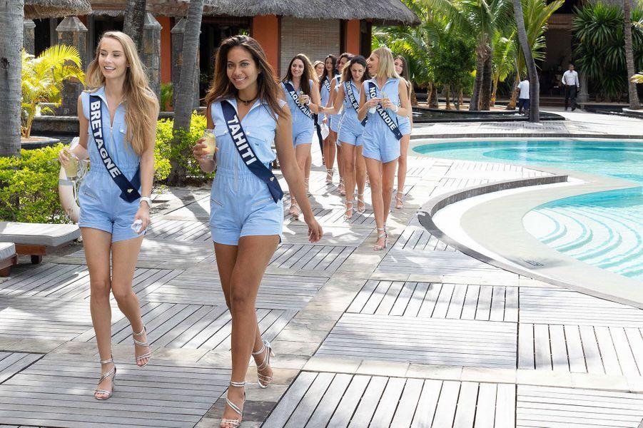 Miss Bretagne, Emilie Bachellereau et Miss Tahiti, Vaimalama Chaves