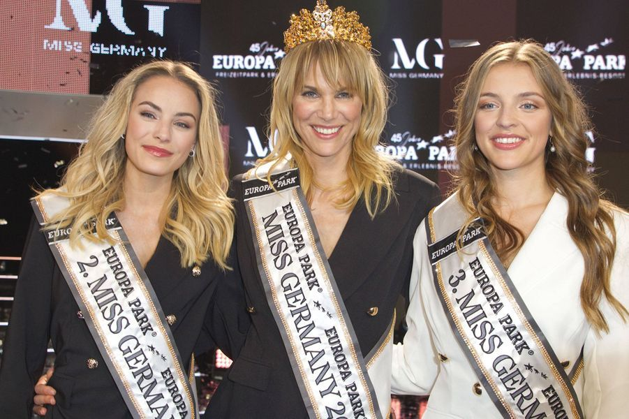 Leonie Charlotte von Hase, Miss Germany 2020 et ses deux dauphines.