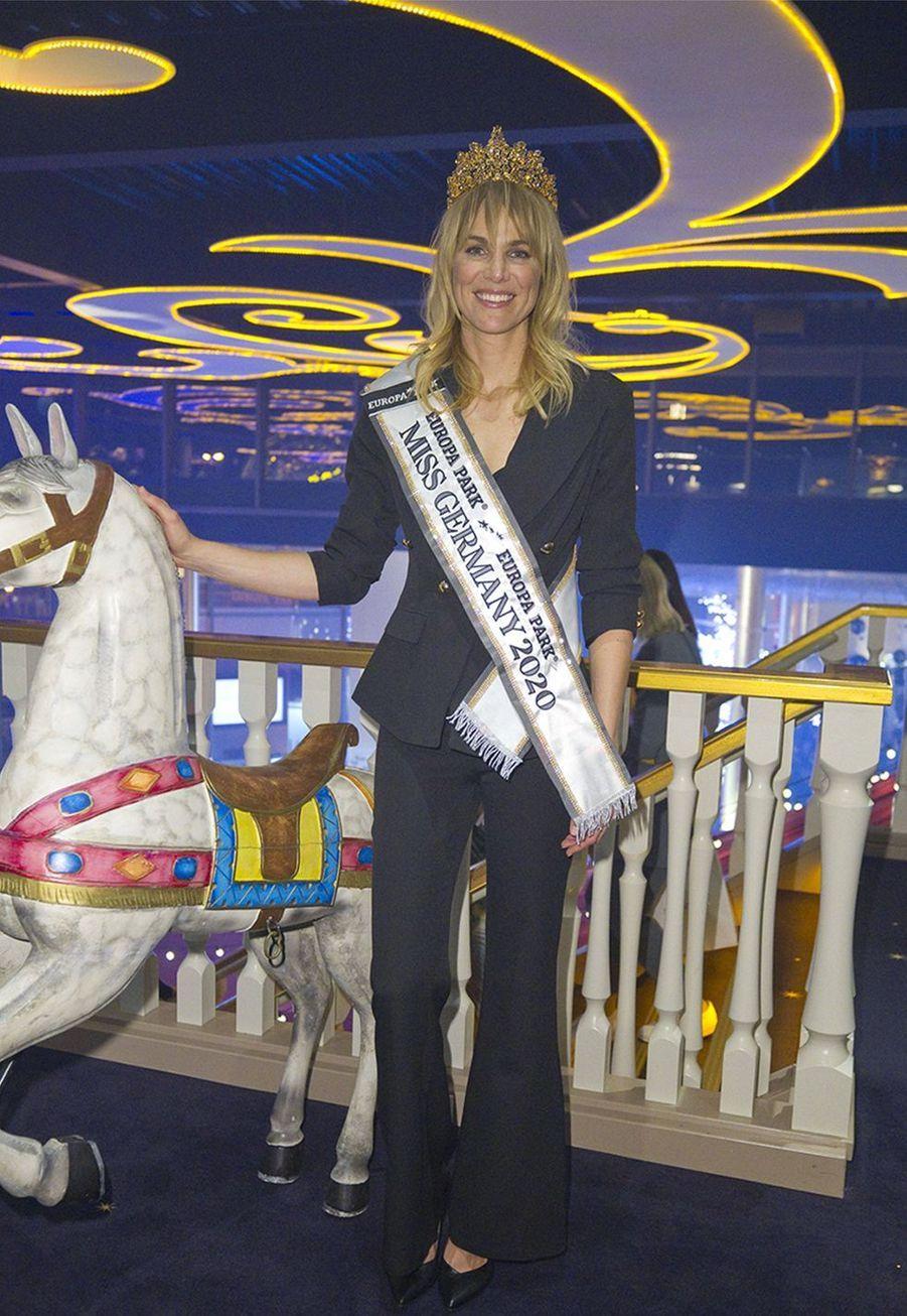 Leonie Charlotte von Hase, après avoir été élue Miss Germany 2020.