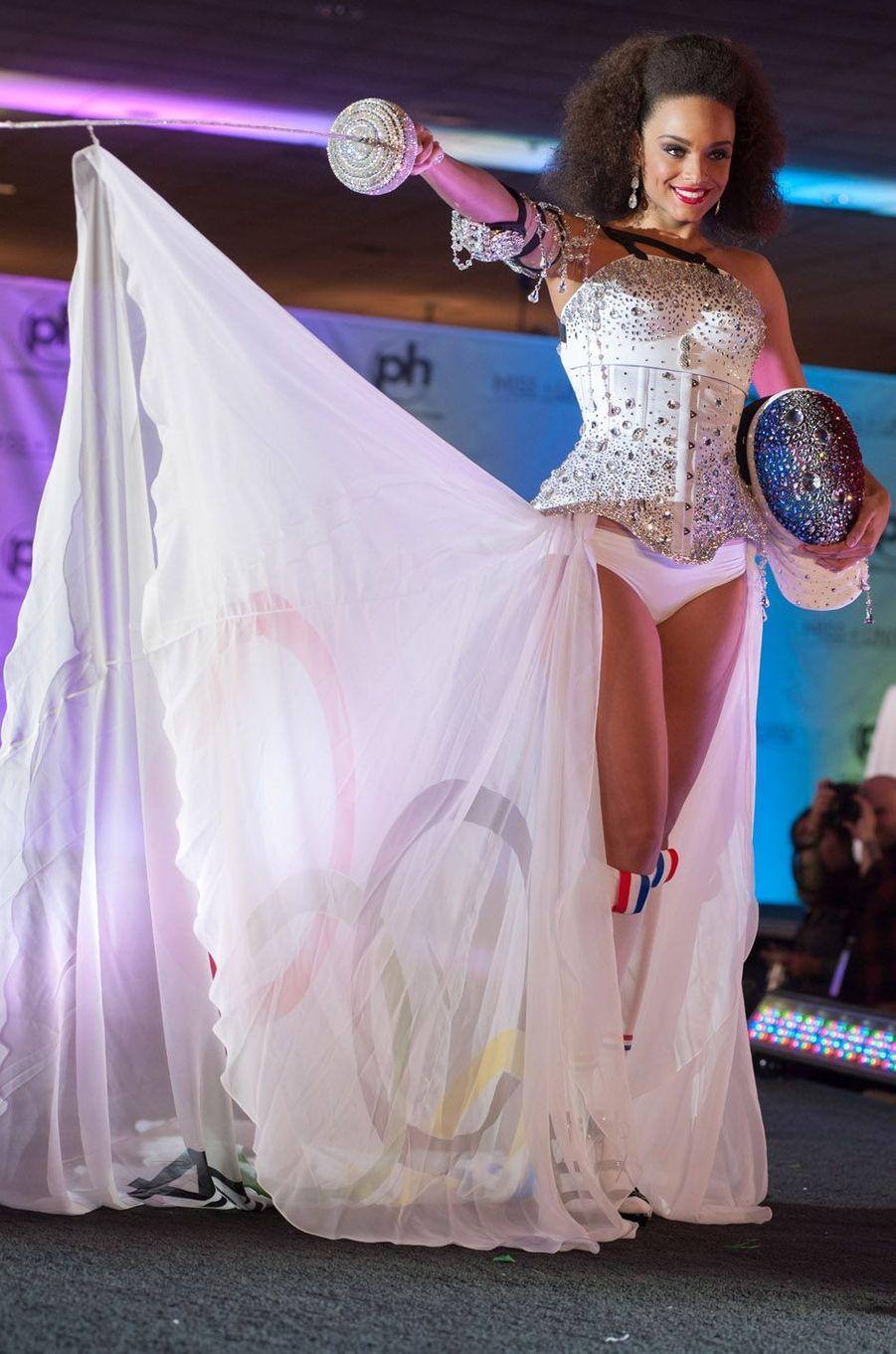 Alicia Aylies pour le concours Miss Univers, le 18 novembre 2017 à Las Vegas.