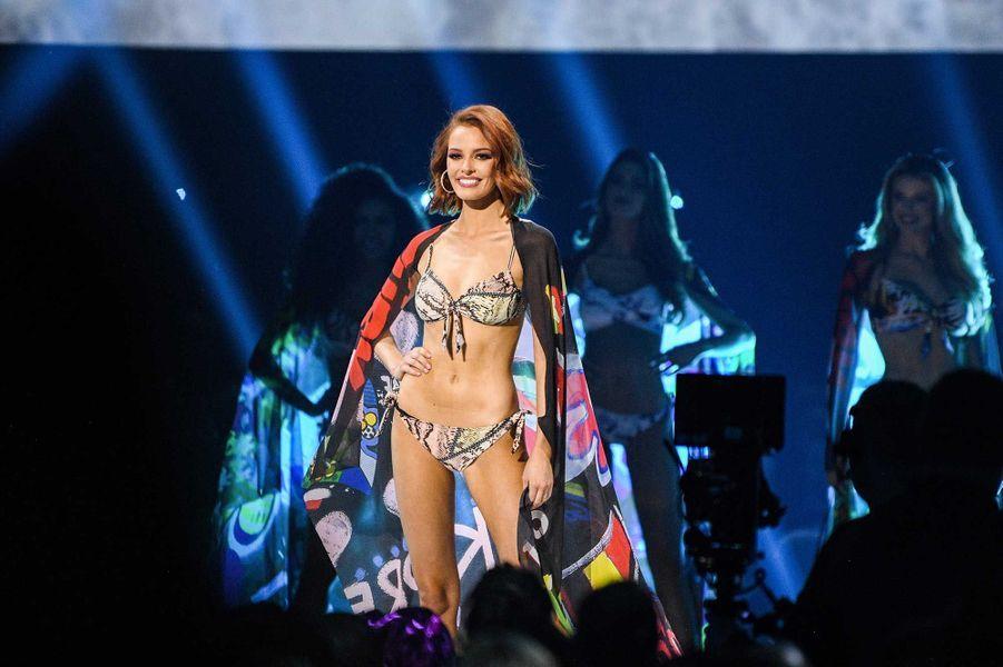 Maëva Coucke lors de l'élection de Miss Univers, dimanche à Atlanta
