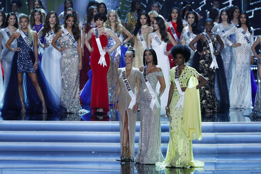 Miss Afrique du Sud, Miss Colombie et Miss Jamaïque étaient les trois dernières en lice pour la couronne Miss Univers