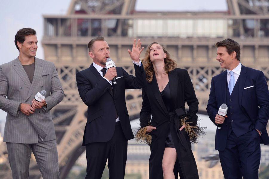 Henry Cavill, Simon Pegg, Rebecca Ferguson et Tom Cruise