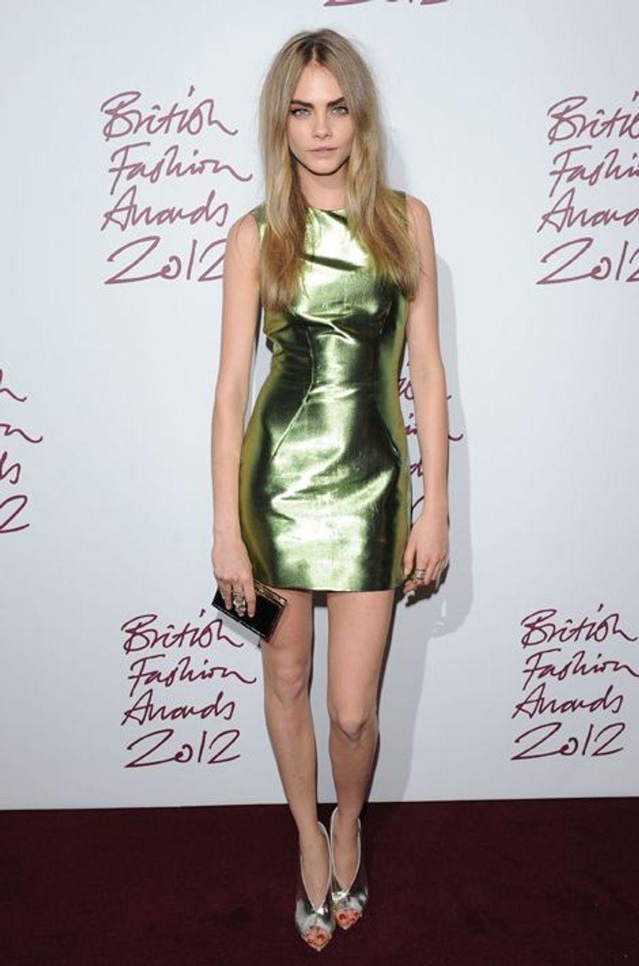 Aux British Fashion Awards à Londres en novembre 2012