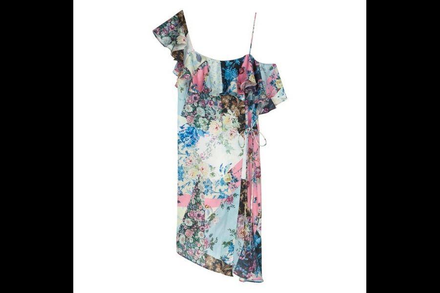 Flower bomb : Robe en soie, Asos, 106,99 €.