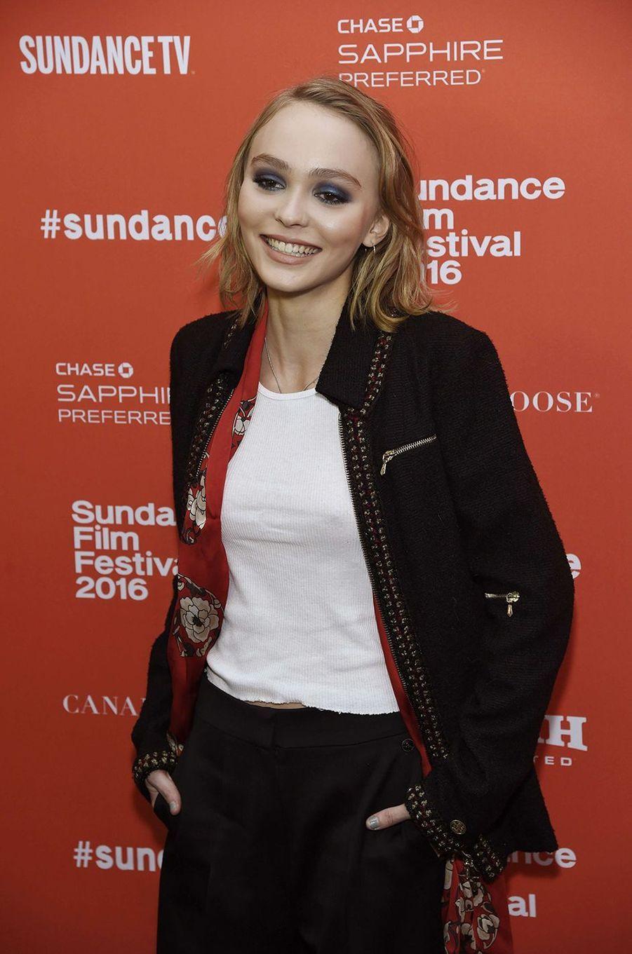 Lily-Rose Depp au festival de Toronto, janvier 2016