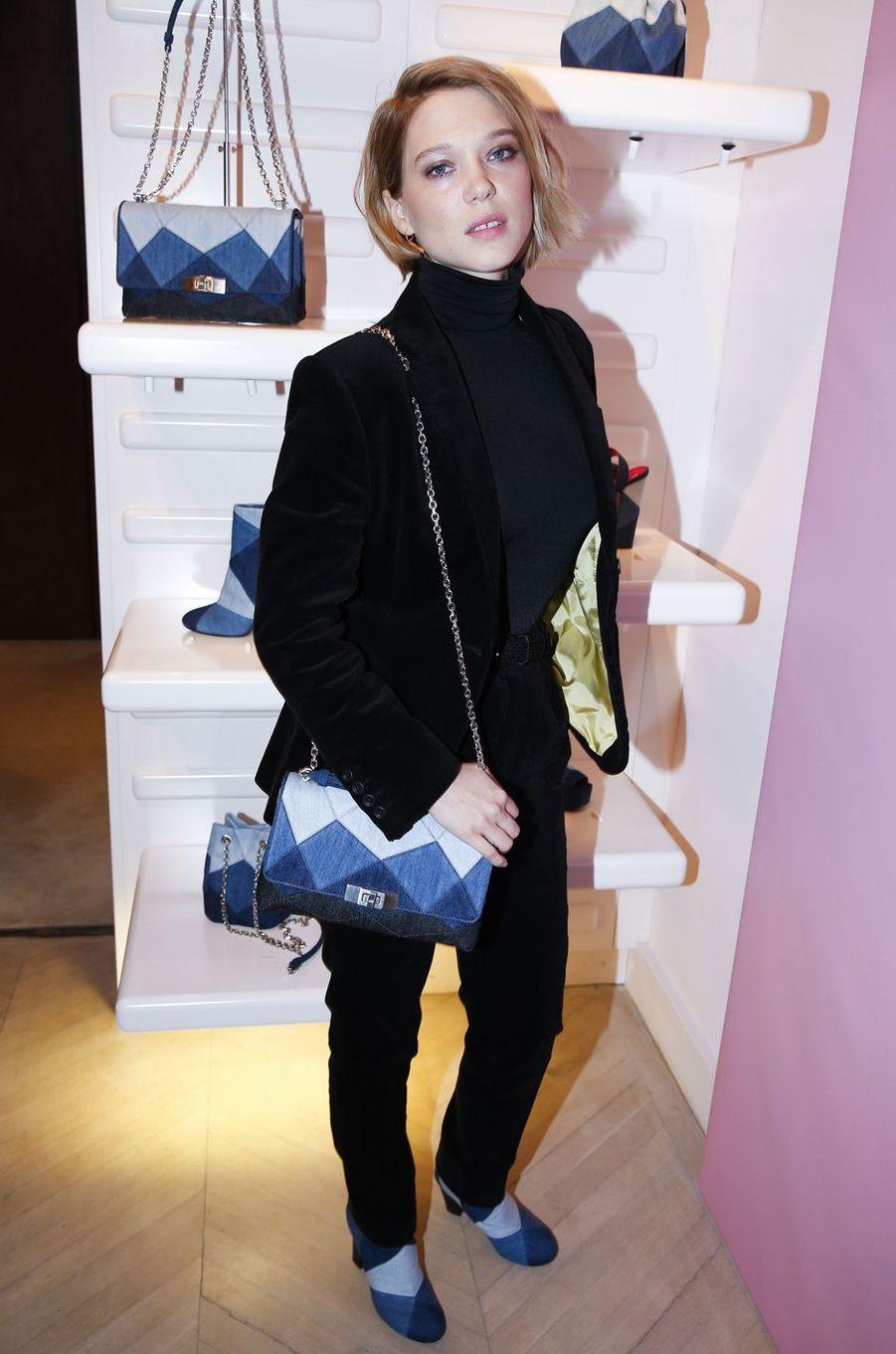 Léa Seydoux à Paris le 7 mars 2016