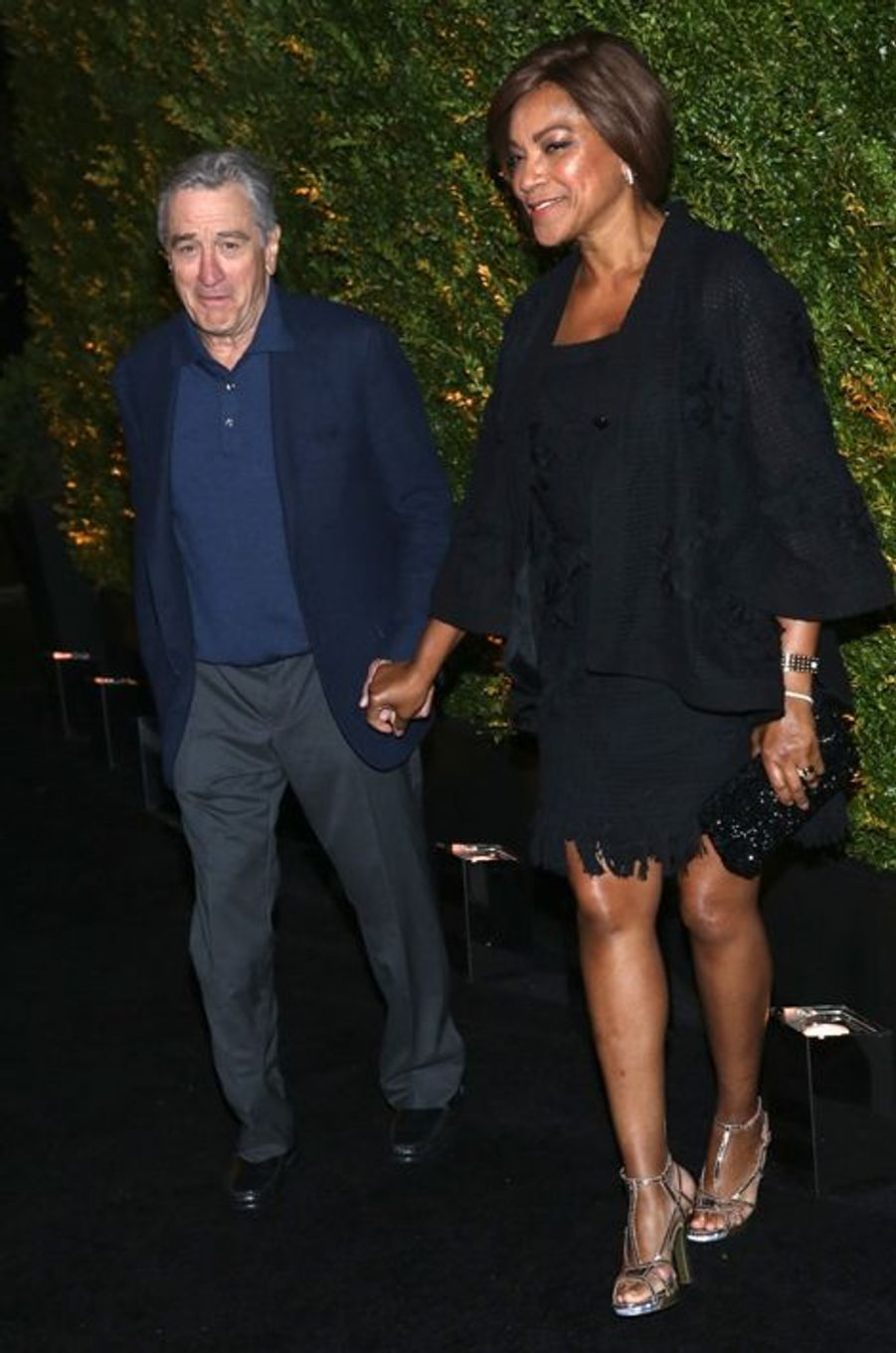 Robert De Niro et Grace Hightower à New York le 20 avril 2015