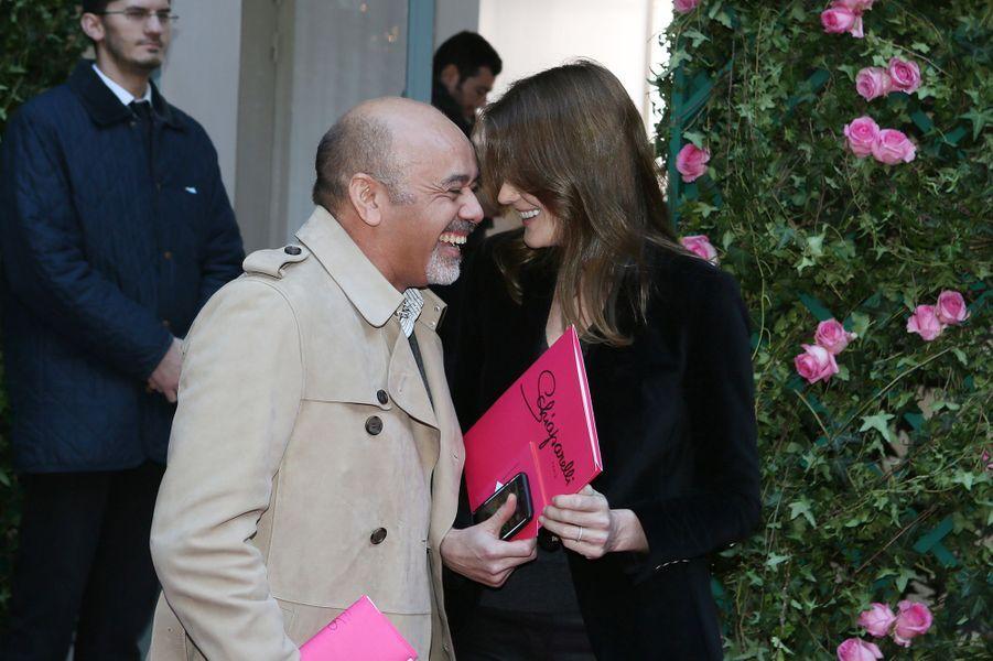 Christian Louboutin et Carla Bruni-Sarkozy