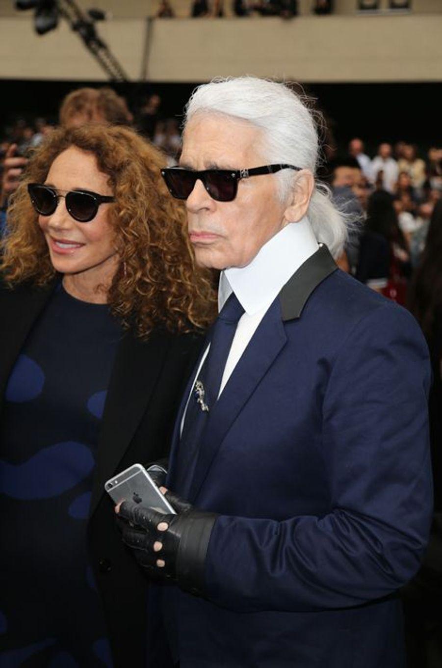 Marisa Berenson et Karl Lagerfeld