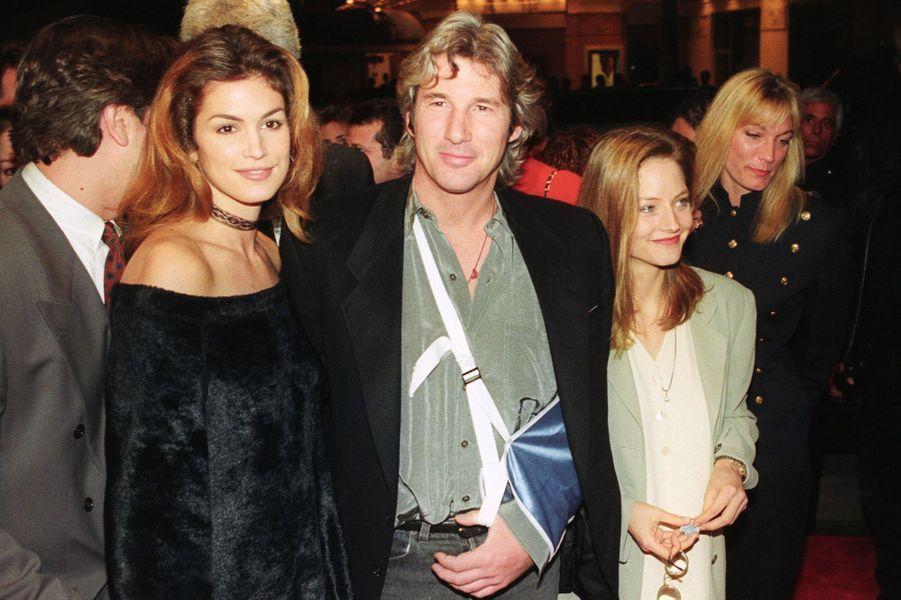 Cindy Crawford et Richard Gere en février 1993