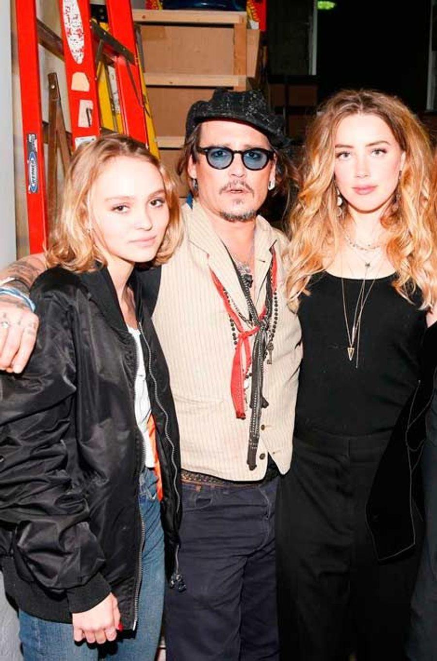 Lily-Rose, Johnny Depp, Amber Heard, Stella McCartney et Orlando Bloom