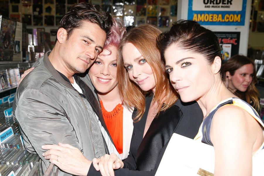 Orlando Bloom, Pink, Stella McCartney et Selma Blair