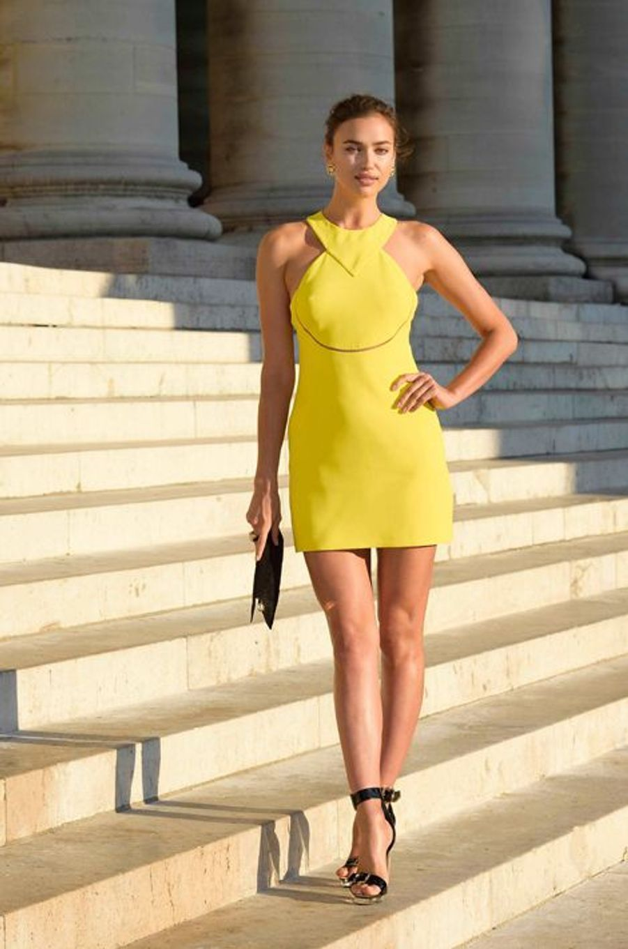 Irina Shayk à Paris le 5 juillet 2015