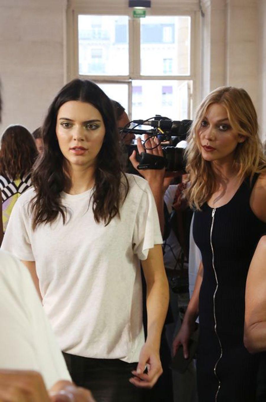 Kendall Jenner et Karlie Kloss à Paris le 5 juillet 2015