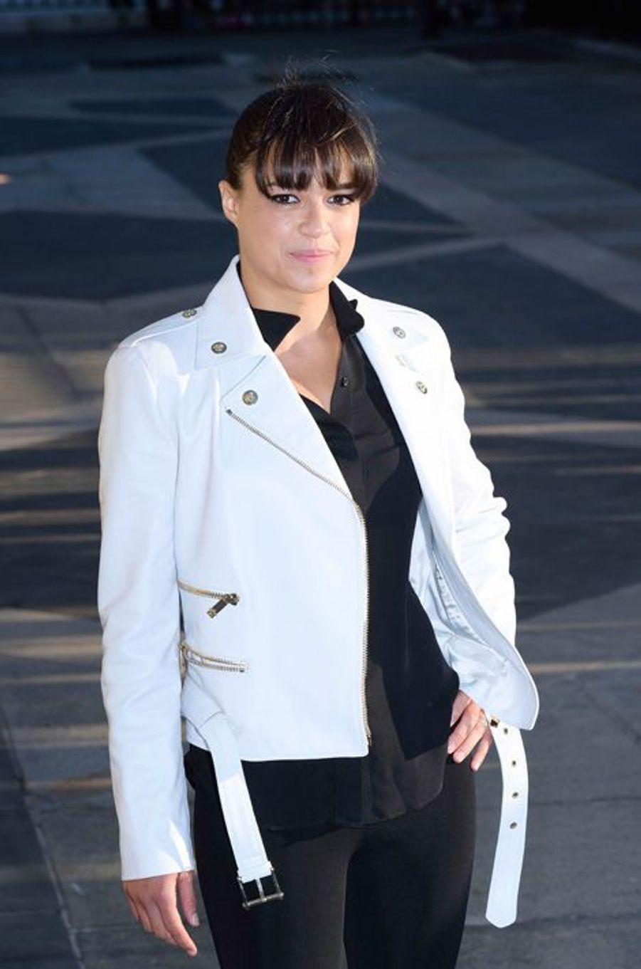 Michelle Rodriguez à Paris le 5 juillet 2015